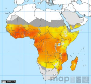 spatial distribution Plasmodium falciparum malaria Africa